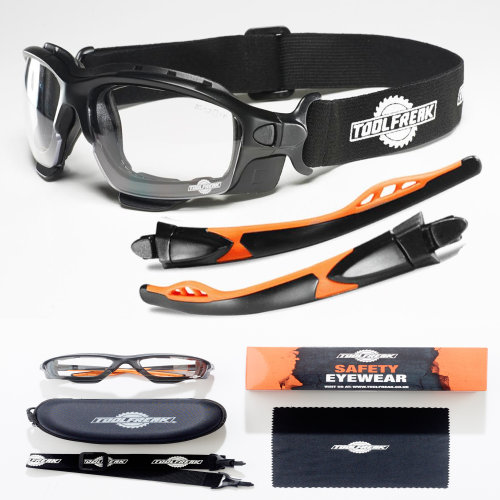 ToolFreak Spoggles Safety Glasses Clear Lens