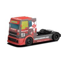 Red Team Scalextric Racing Truck Slot Car - C3609 New Starco 132 Wh Boxed -  scalextric racing truck c3609 new starco team 132 wh red boxed