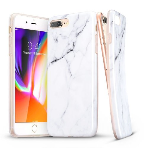 ESR iPhone 8 Plus Case, iPhone 7 Plus Case, Marble Pattern Shell Skin Cover  [Anti-Scratch] [Anti-Slip] [Ultra-Thin] for iPhone 7 Plus (2016) /