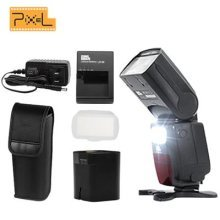 Pixel X900C 2.4G Wireless HSS E-TTL/M/Mult Lithium Battery Flash Speedlite with LED Light For Canon DSLR Cameras
