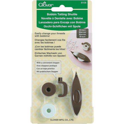 Clover Bobbin Tatting Shuttle-Brown