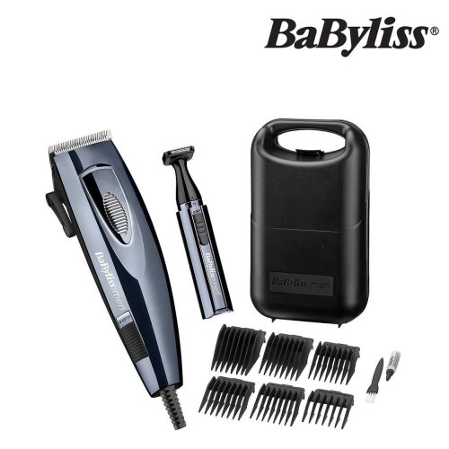 BaByliss 7456U Powerblade Pro Hair Clipper Electric Corded Shaver 6pc Kit