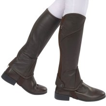 Dublin Stretch Fit Half Chaps Childs: Brown: X Small