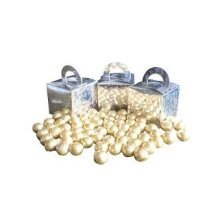 Pack of 12 Gold Foiled Chocolate Balls Filled Holographic Star Silver Cube Balloon Weight Favour Boxes