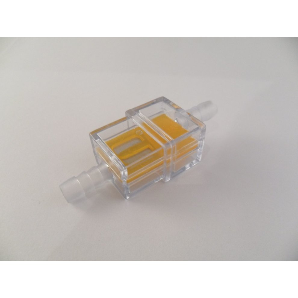 6mm square inline fuel filter for motorcycle motorbike trials mx moped  - 1