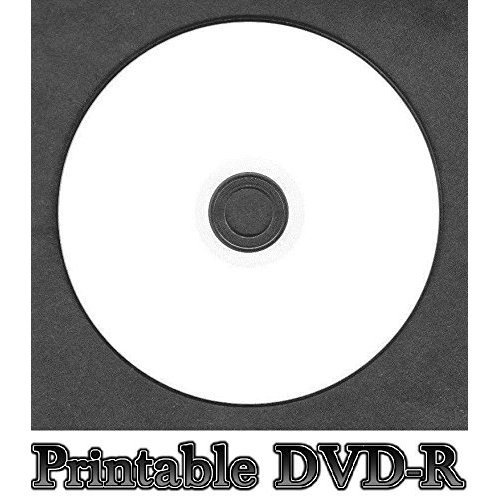 Blank White Inkjet Printable DVD-R Disc Full Face (16x 120min 4.7GB) DVD