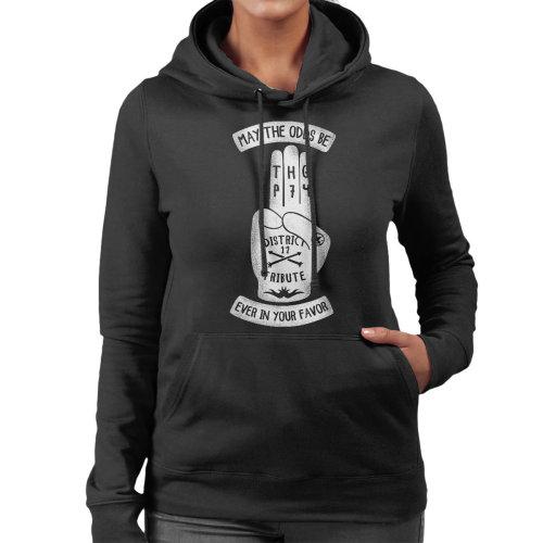 Tribute Hand Hunger Games Women's Hooded Sweatshirt